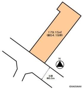 焼津市中港5丁目 約54.19坪