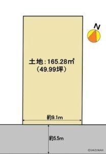 静岡市駿河区登呂2丁目 お好きな建築メーカーにて建築可能