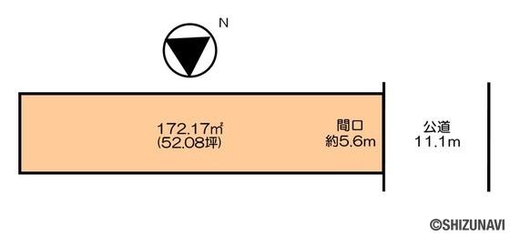 葵区葵町 建築条件無し 番町小学校まで徒歩約6分