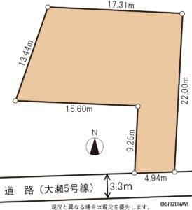 【南向き88坪】浜松市東区大瀬町 大瀬小まで徒歩10分!