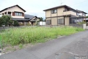 富士市中島【建築条件なし】南面道路で日当たり良好な整形地!